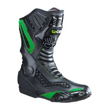 Leather Moto Boots W-TEC NF-6003 - Green