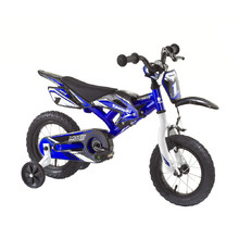 "KAWASAKI Moto Kids Bike 12"" - model 2014 - Blue"