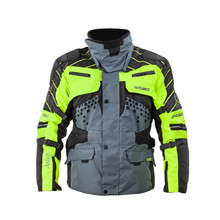 Moto Jacket W-TEC Astair - Black-Grey-Green