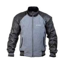 Men's Moto Jacket W-TEC Janchee NF-2718 - Black-Grey