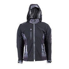 Women's Softshell Moto Jacket W-TEC Pestalozza NF-2781 - Black-Grey