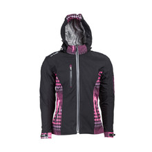 Women's Softshell Moto Jacket W-TEC Pestalozza NF-2781 - Black-Pink