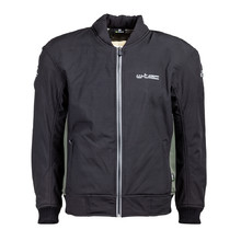 Men's Softshell Moto Jacket W-TEC Langon NF-2753 - Black-Khaki