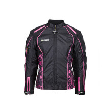 Women's Moto Jacket W-TEC Calvaria NF-2406 - Black-Pink with Graphics