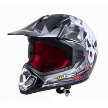 Junior motorcycle helmet W-TEC V310 - Black Skull