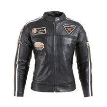 Women's Leather Motorcycle Jacket W-TEC Sheawen Lady - Black