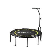 Spring-Free Trampoline with Handlebar inSPORTline Cordy 114 cm - Yellow