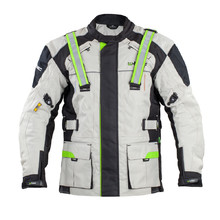 Men's Long Moto Jacket W-TEC Turaso NF-2215 - Beige-Black-Green