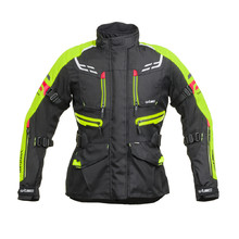 Women's Motorcycle Jacket W-TEC Ventura Lady - Black-Fluo Yellow