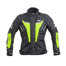 Women's Motorcycle Jacket W-TEC Brandon Lady - Black-Fluo Yellow