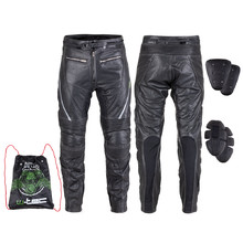 Leather Motorcycle Pants W-TEC Vilglen - Black
