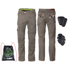 Men's Motorcycle Pants W-TEC Shoota - Olive Green