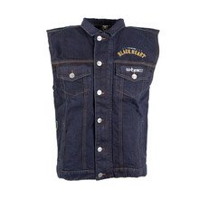 Motorcycle Vest W-TEC Black Heart Rideman - Blue