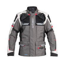 Touring Motorcycle Jacket W-TEC Excellenta - Thunderstorm Gray