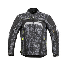 Men's Motorcycle Jacket W-TEC Torebaro - Black-Grey Digi-Camo