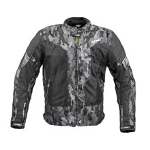 Men's Summer Motorcycle Jacket W-TEC Jared - Black-Grey Digi-Camo