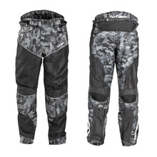 Men's Summer Motorcycle Pants W-TEC Jori - Black-Grey Digi-Camo
