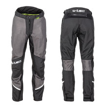 Men's Summer Motorcycle Pants W-TEC Alquizar - Black Grey
