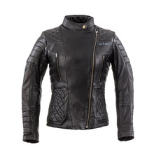 Women's Leather Motorcycle Jacket W-TEC Corallia - Black