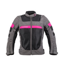 Women's Summer Motorcycle Jacket W-TEC Monaca - Black Mesh-Pink