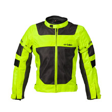 Men's Summer Motorcycle Jacket W-TEC Fonteller - Yellow-Grey