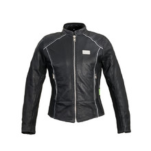 Women's Leather Motorcycle Jacket W-TEC Hagora - Matte Black