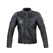 Leather Motorcycle Jacket W-TEC Losial - Black