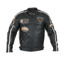 Men's Leather Motorcycle Jacket W-TEC Sheawen