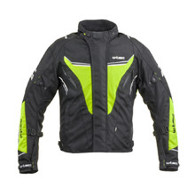 Men's Motorcycle Jacket W-TEC Brandon - Black-Fluo Yellow