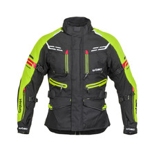 Men's Motorcycle Jacket W-TEC Ventura - Black-Fluo Yellow