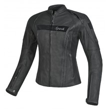 Women's Leather Motorcycle Jacket Spark Virginia - Black