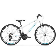 "Junior Bike Kross Evado JR 1.0 26"" – 2020 - White/Turquoise/Blue"