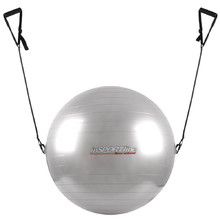 75cm Gymnastic Ball with Grips - Grey