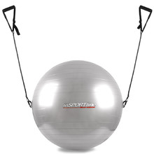 55cm Gymnastic Ball with Grips - Grey