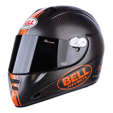 Motorcycle Helmet BELL M5X Carbon - Matte Black-Orange