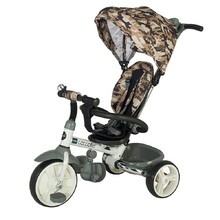 Three-Wheel Stroller/Tricycle with Tow Bar Coccolle Urbio Army - Olive