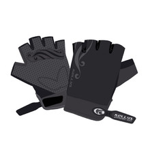 Lady's cycling gloves KELLYS SUNNY SHORT - Black