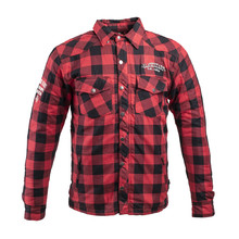 Aramid Motorcycle Shirt W-TEC Black Heart Reginald - Red-Black
