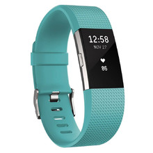 Fitness Tracker FITBIT Charge 2 Teal Silver