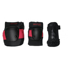 Spartan Coolmax Protectors - 6-Piece Set - Black-Red