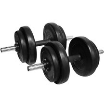 Loading dumbbell set with cement content inSPORTline DBS2181 2 x 3-10 kg