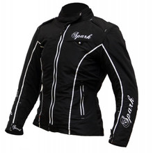 Women's Textile Motorcycle Jacket Spark Nora - Black