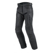 Women's Leather Motorcycle Pants Spark Virginia - Black