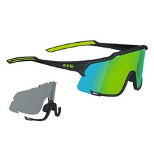 Cycling Sunglasses Kellys Dice Photochromic - Black-Lime