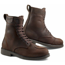 Leather Motorcycle Boots Stylmartin District - Brown