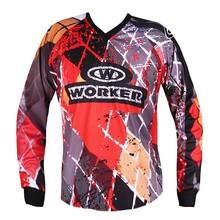 Motocross shirt WORKER T-Junior - Red Checked