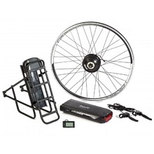 "Electric Set CRUSSIS for 28"" Bike, V-Brakes, Rack Battery, Rear Rack"
