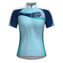 Women's cycling dress KELLYS Faith - short sleeve - Blue