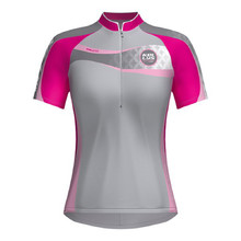 Women's cycling dress KELLYS Faith - short sleeve - Pink