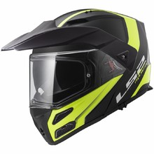 Flip-Up Motorcycle Helmet LS2 FF324 Metro Rapid Matt Black Yellow P/J